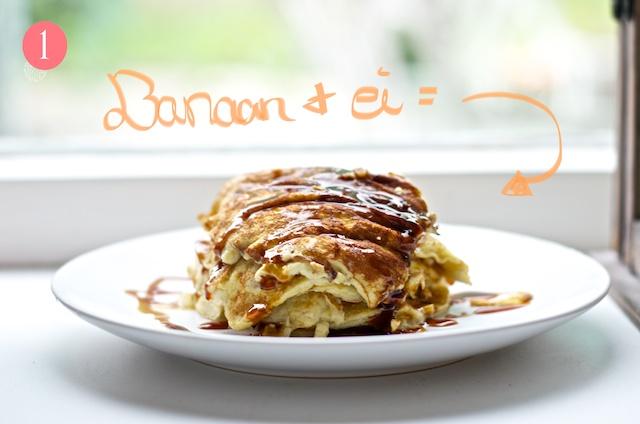 Recept: Banaan-ei pannekoekjes
