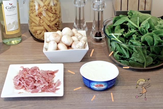 Ingrediënten Mascarponepasta