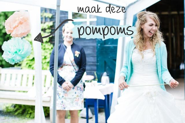 Bruiloft: pompoms