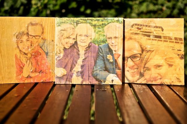 Foto's op hout afdrukken