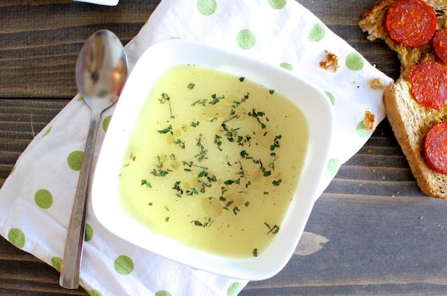 zelfs soep maken, leuke soep, lekkere soep