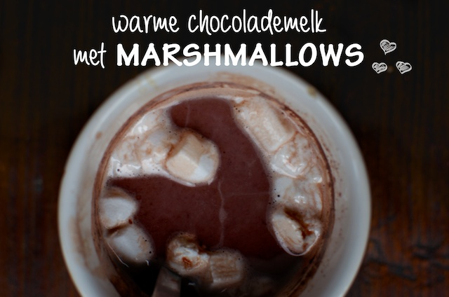 Warme choco met marshmallows