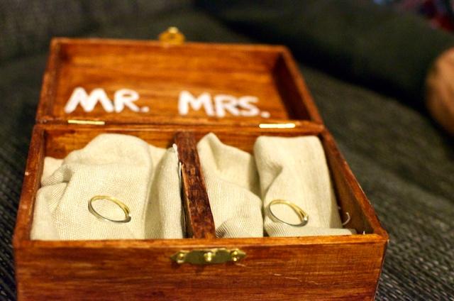 Bruiloft: ringendoosje