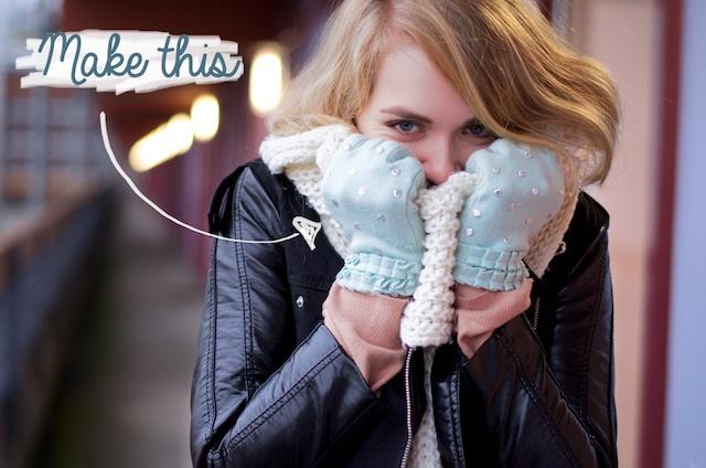 handschoenen oppimpen, zelf handschoenen maken, zelf handschoenen versieren