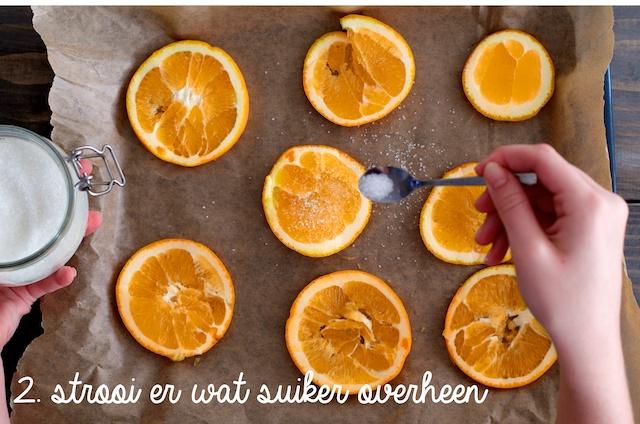Sinaasappels drogen