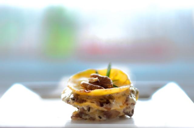 Lasagna met champignons en gorgonzola
