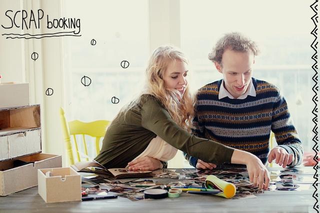 scrapbooken, wat voor dates, hoe scrapbook je, leuke date ideeën, date thuis idee, date idee tips