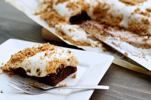 brownie met marshmallow, goed brownie recept, zachte brownies, brownies maken, zelf brownies maken