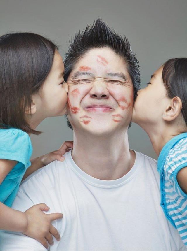 Creatieve foto's door vader