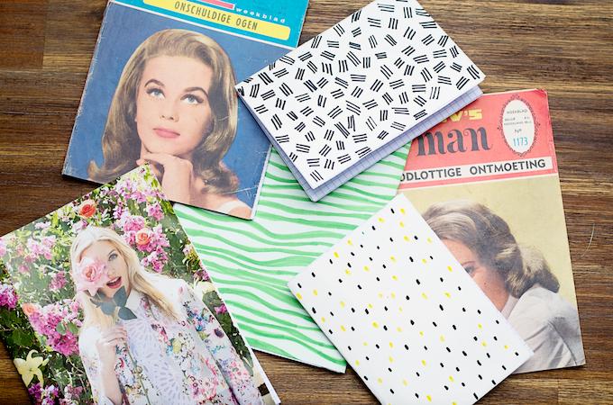Maak je eigen notebooks, zelf schriften maken, magazines recyclen, diy met magazines