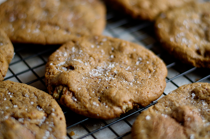Salty chocolate chip cookies