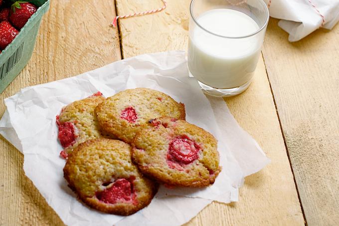 koekjes met vruchten, aardbeien koekjes, recepten aardbeien, wat te doen met aardbeien