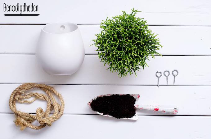 diy hangplanten, toilet inspiratie, planten verpotten