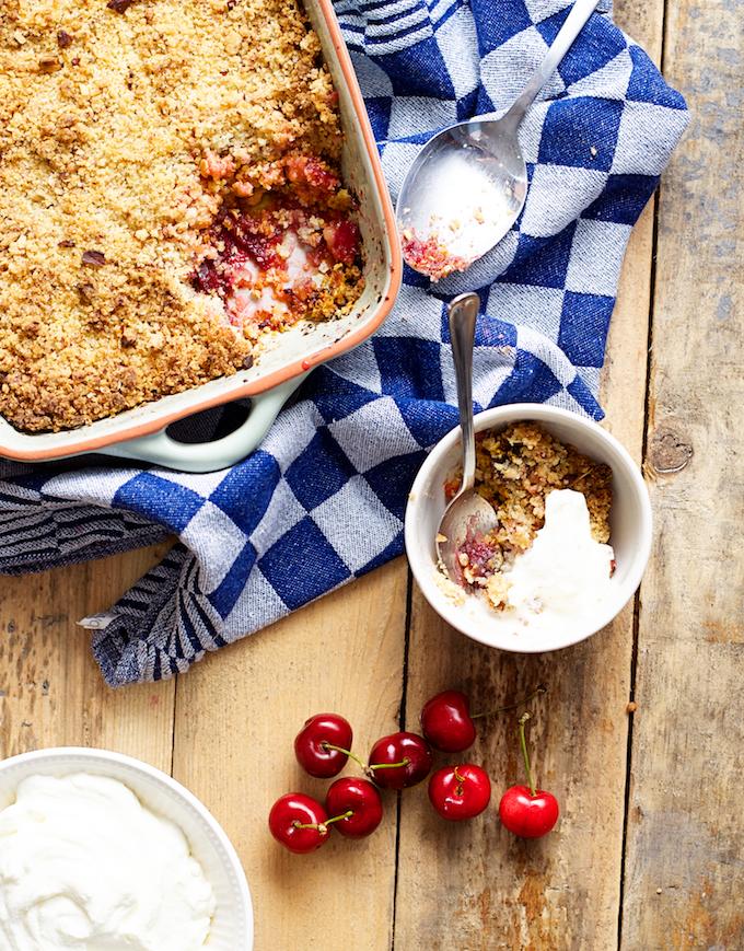 kersentaart, recepten met kersen, kersen ontpitten, kersenvlaai,