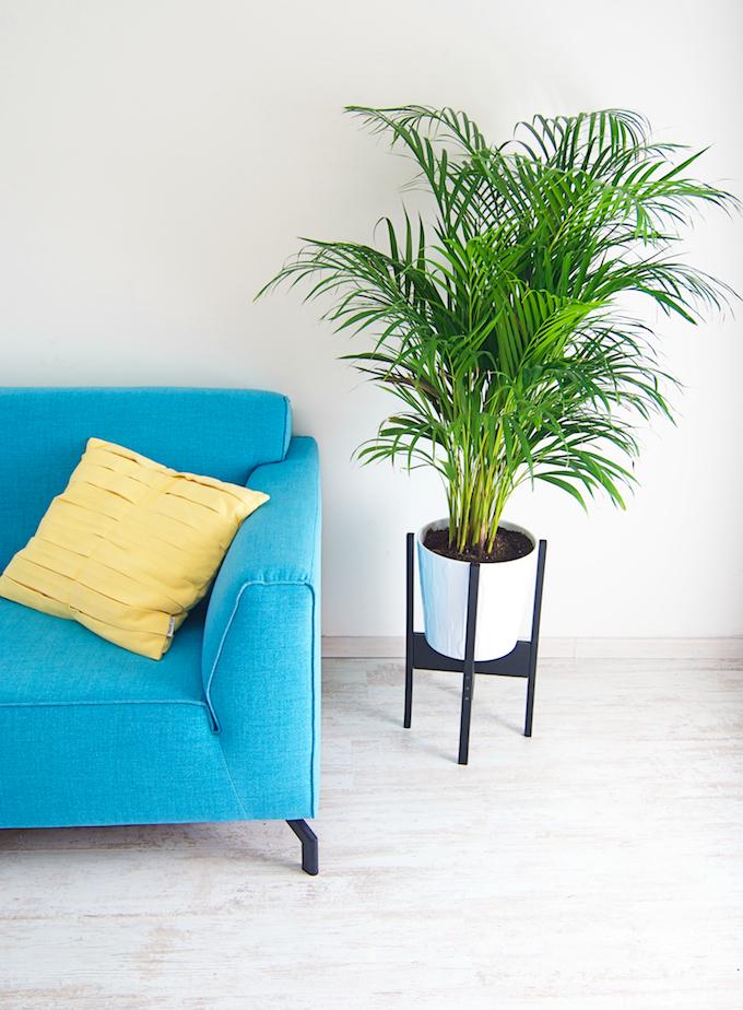 maak je eigen retro plantenstandaard