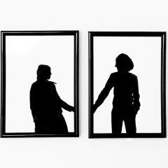 zelf canvas maken, zelf schilderij maken, schilderij maken, silhouet maken persoon