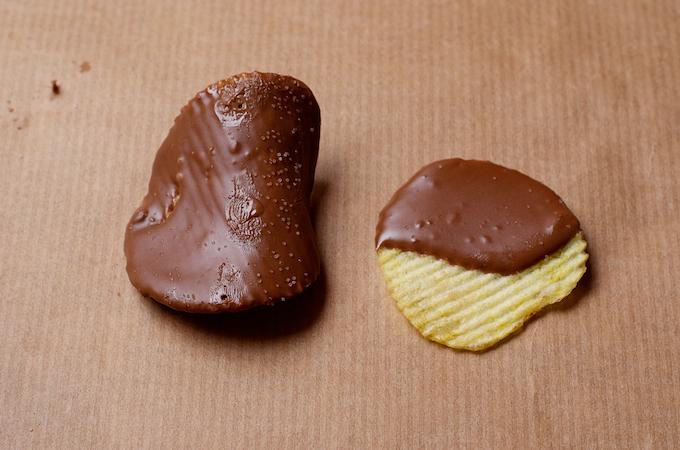 chips chocolade dip