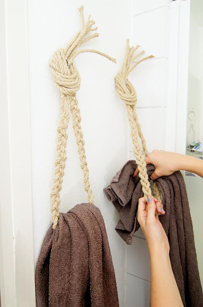 d.iy. handdoekhaken van touw88