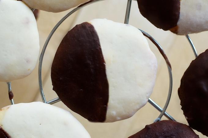zwart wit koekjes, new york koekjes, recept zwart wit koekjes, zwart en wit koekjes
