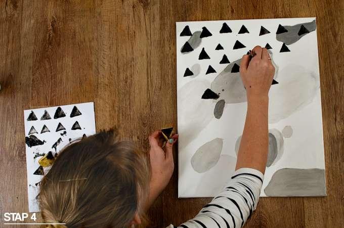 maak je eigen kunst, kunst maken, schilderen, schilderles