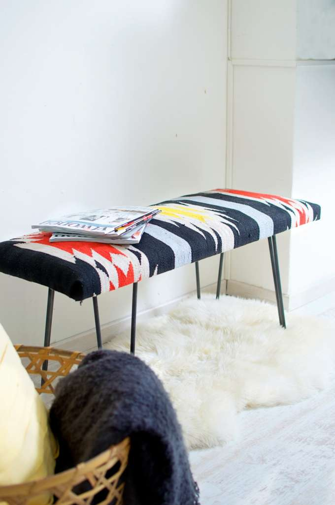 DIY Kelim side bench | A Cup of Life