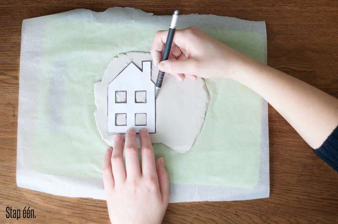 Theelichtje huisje DIY