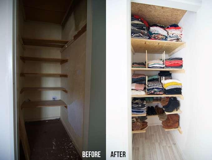 diepe kledingkast inrichten, hoe richt je kledingkast in, kledingkast maken, diepe kledingkast inrichten