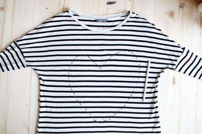 Pailletten hart shirt DIY, (1)
