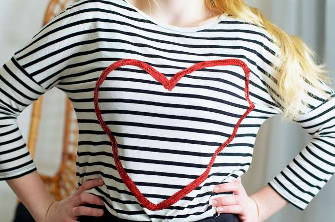 Pailletten hart shirt DIY, (6)