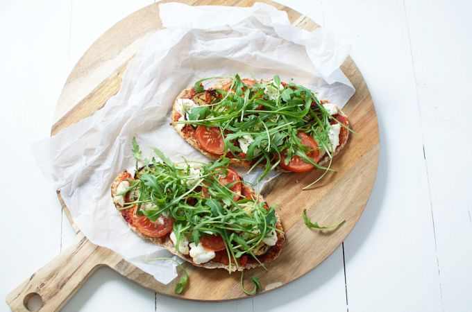 slanke pizza, gezonde pizza, recept slanke pizza, afvallen pizza