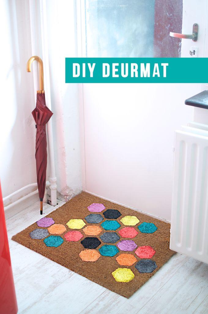 Customize je deurmat met verf!