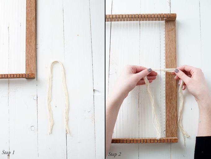 Uitleg weven, hoe weef je, weven, schapenwol weven,