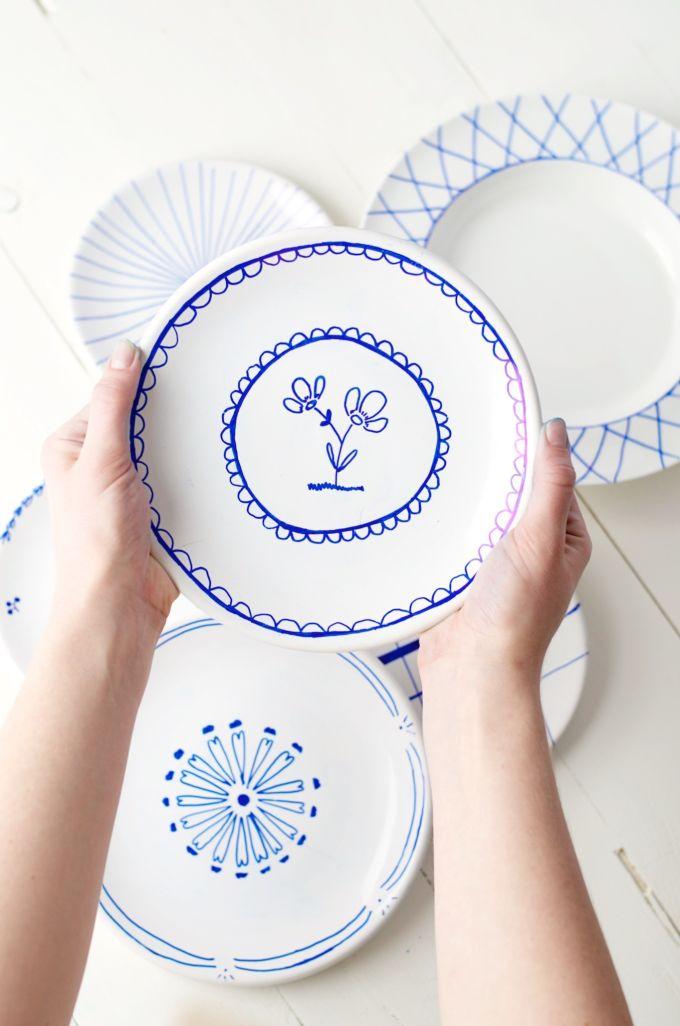 geverfde keramische borden (5)
