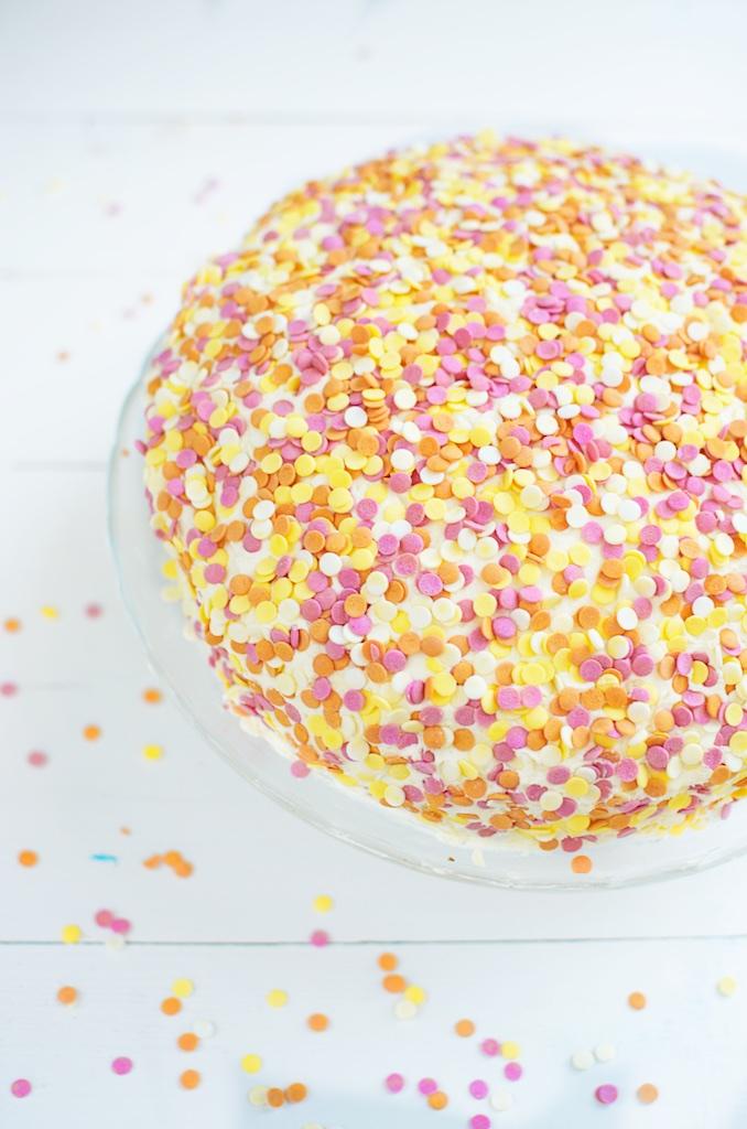 confetti taart recept!