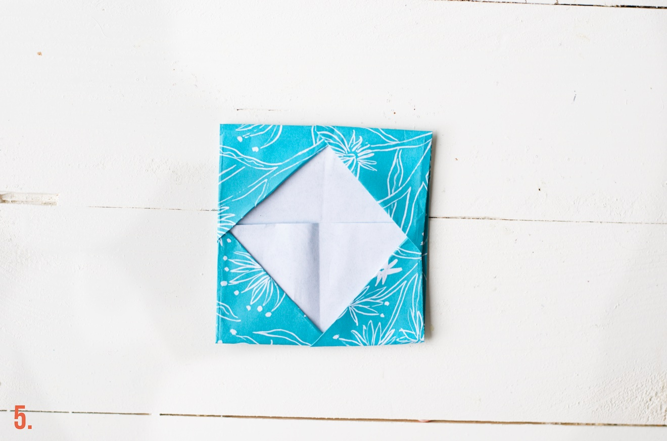 origami visitekaartje houder (2)