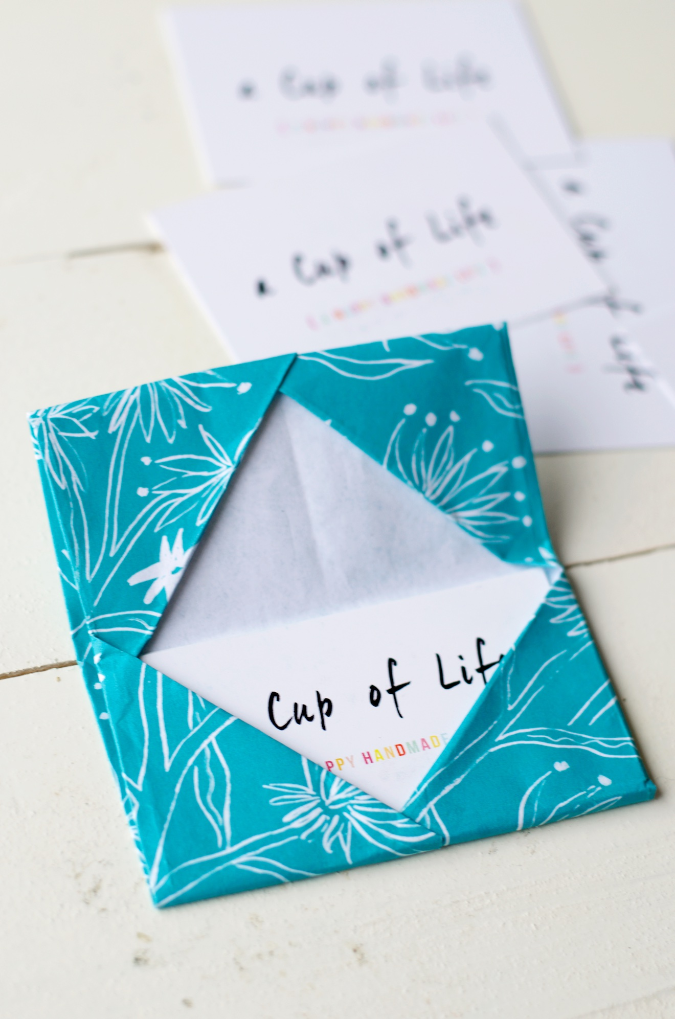 origami visitekaartje houder (5)