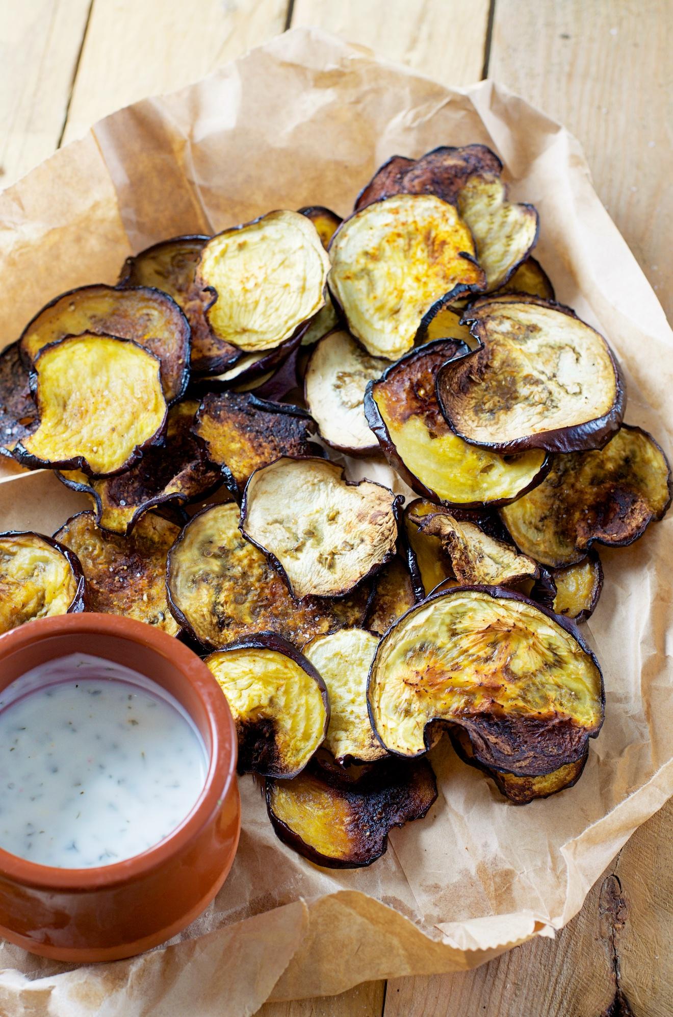 Aubergine chips (4)