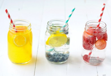 water met een smaakje, fruitwater,