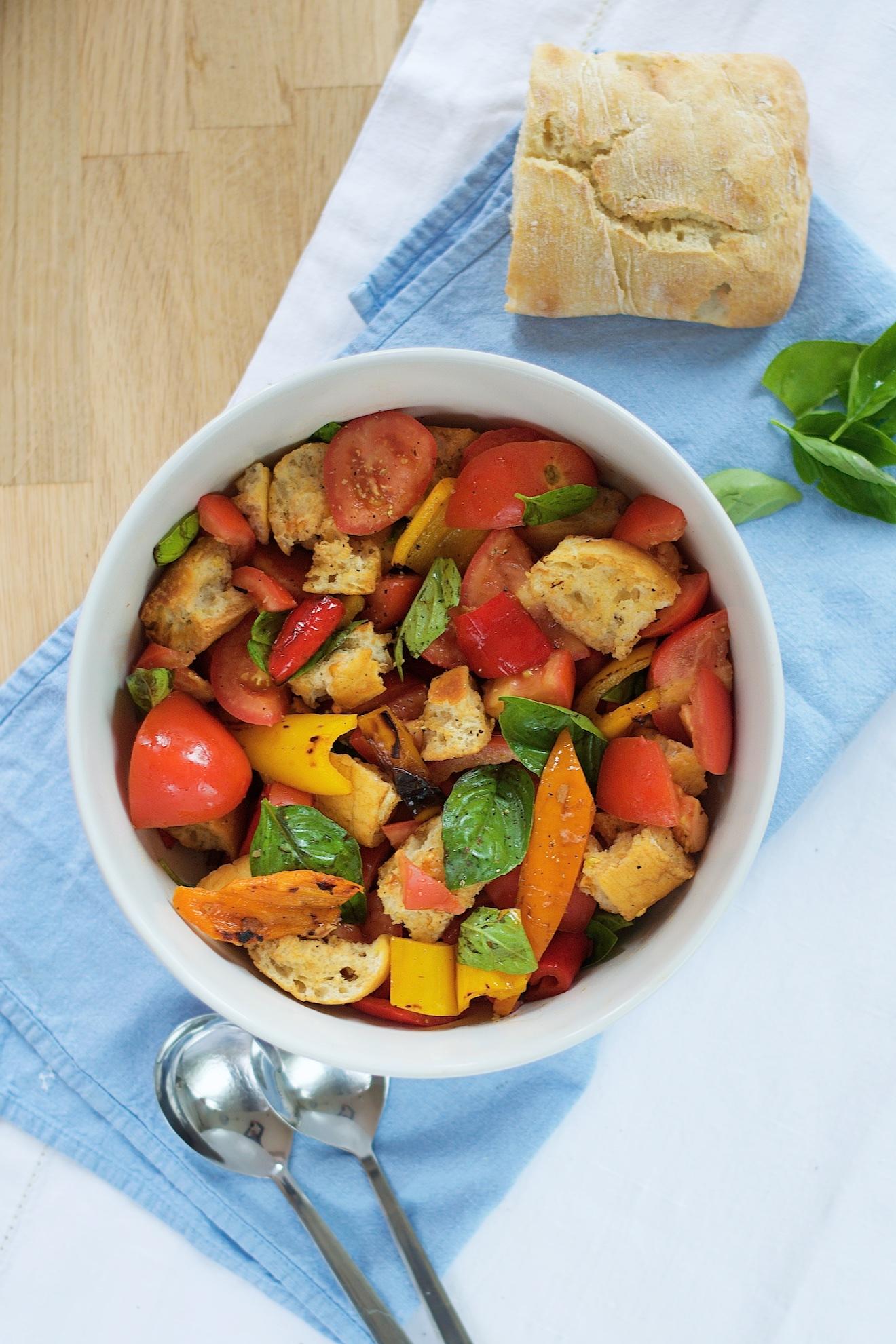 italiaans brood en salade recept