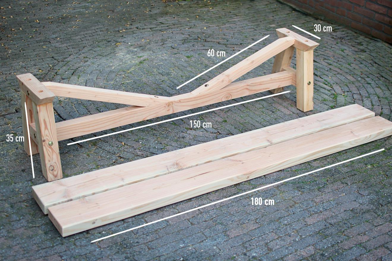 ... hout zelf maken. Tafel van hout zelf maken. Eettafel hout zelf maken