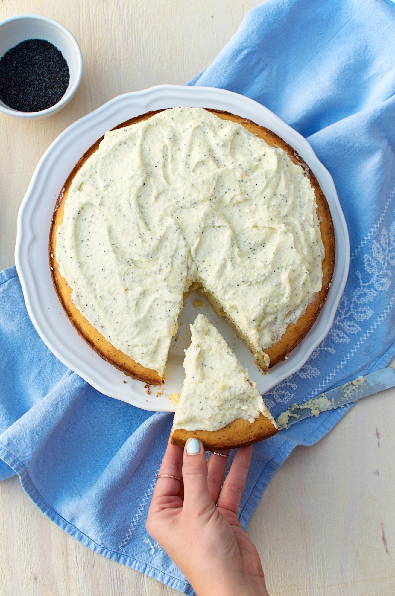 citroen poppyseed taart