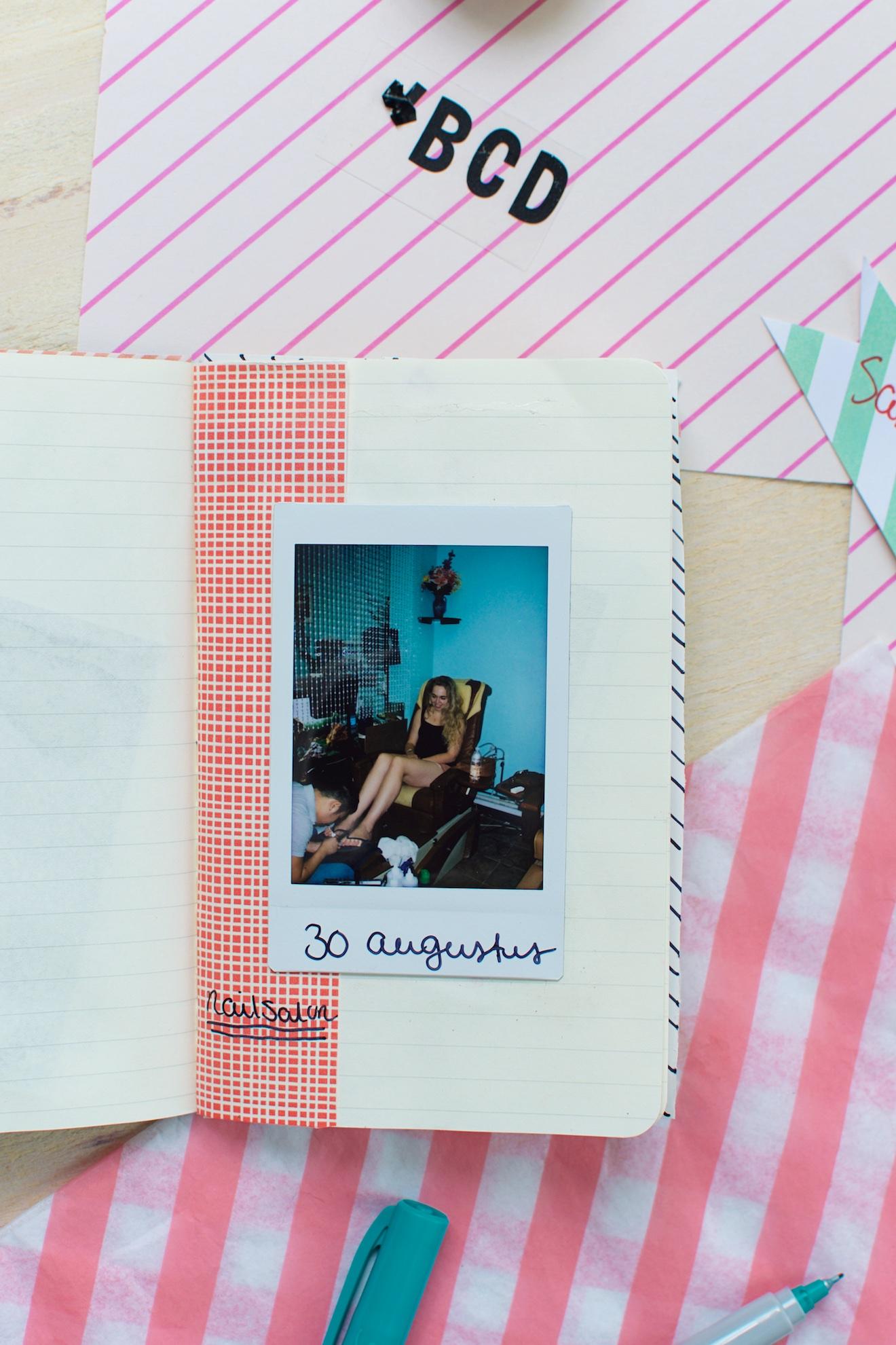 Scrapbook ideeën met een reisdagboek10