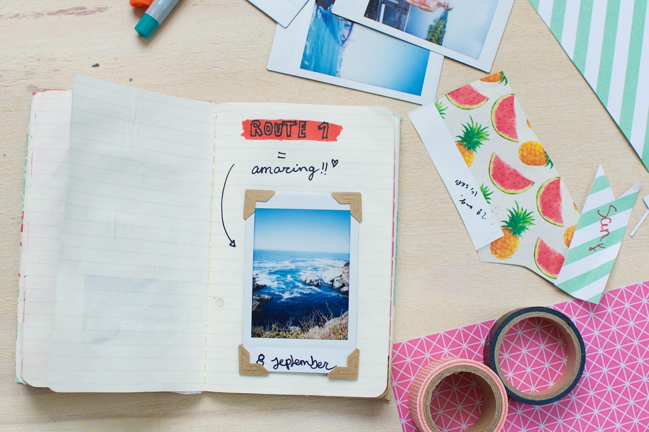 Scrapbook ideee%CC%88n met een reisdagboek14