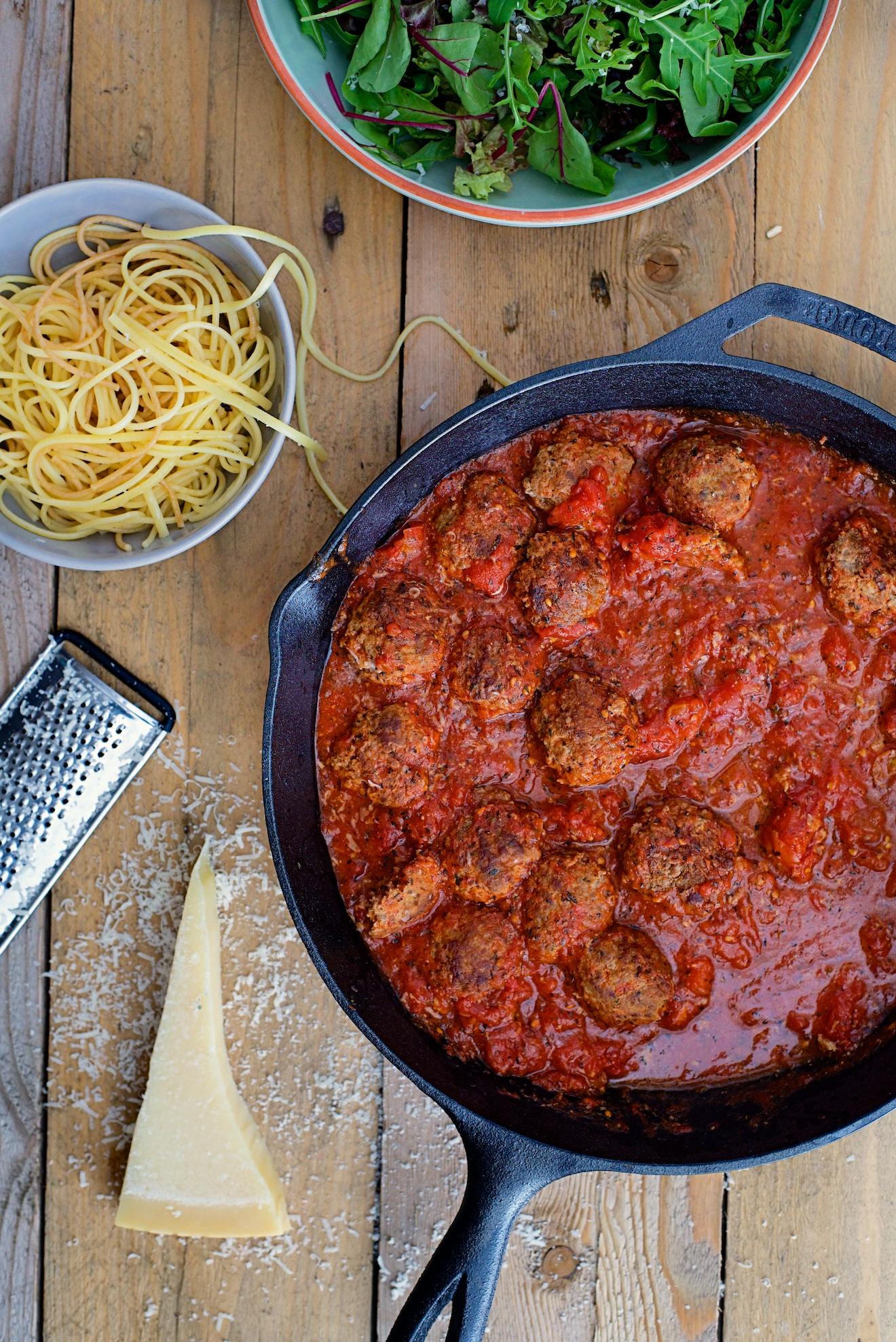 recept voor spaghetti met gehaktballen