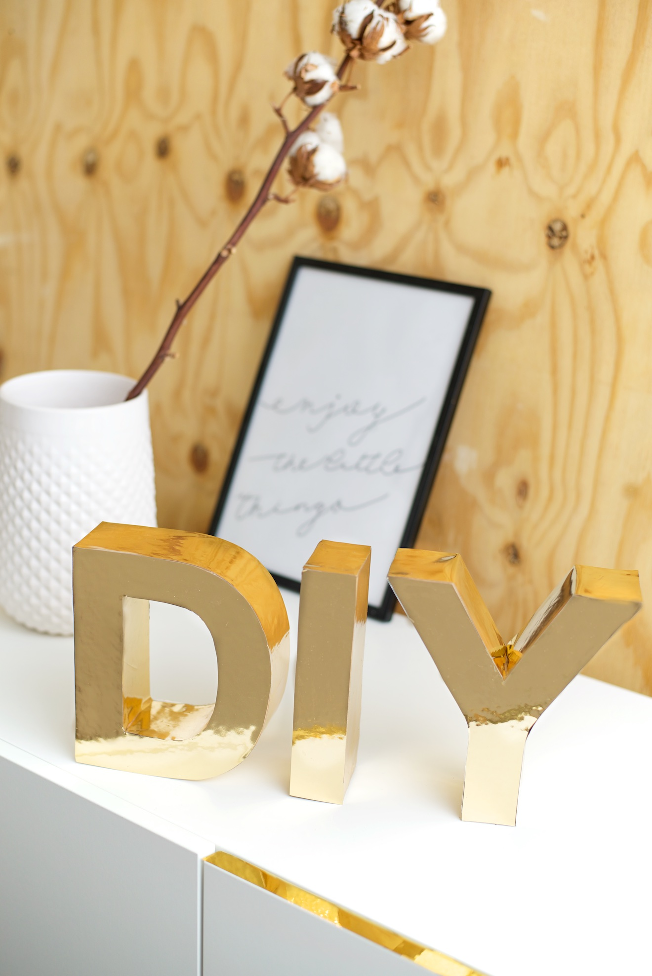DIY gouden letters