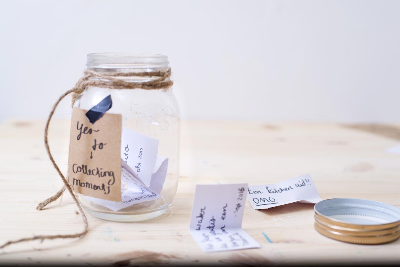Herinneringen pot, memory jar maken (1)