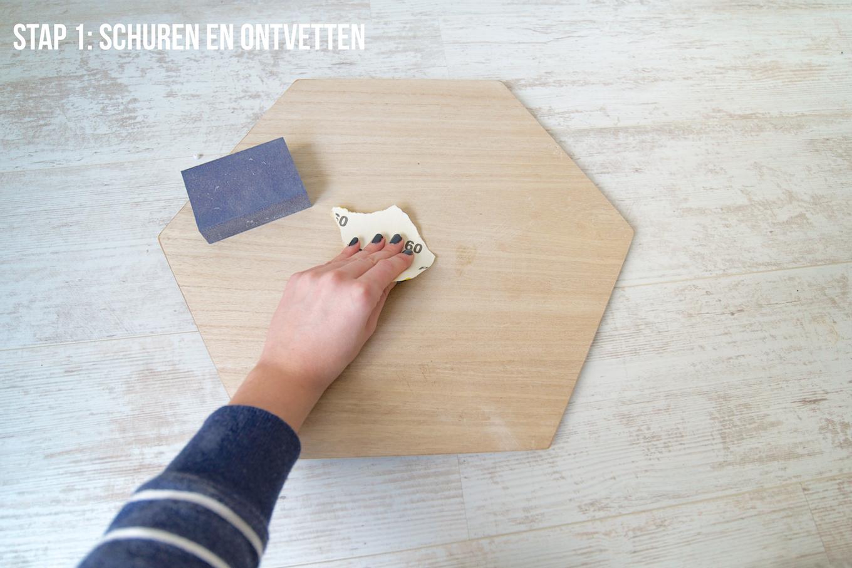 Mid century bijzettafeltje DIY (3)