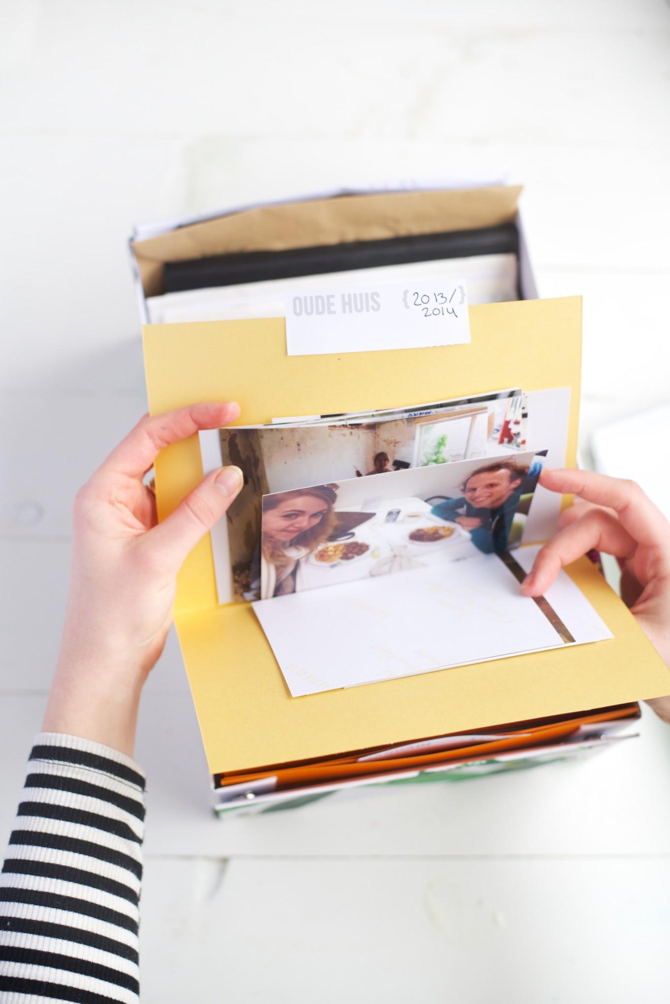 hoe bewaar je foto's, foto's opruimen