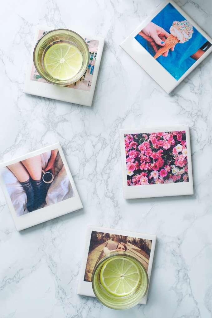 Polaroid onderzetters zelf maken