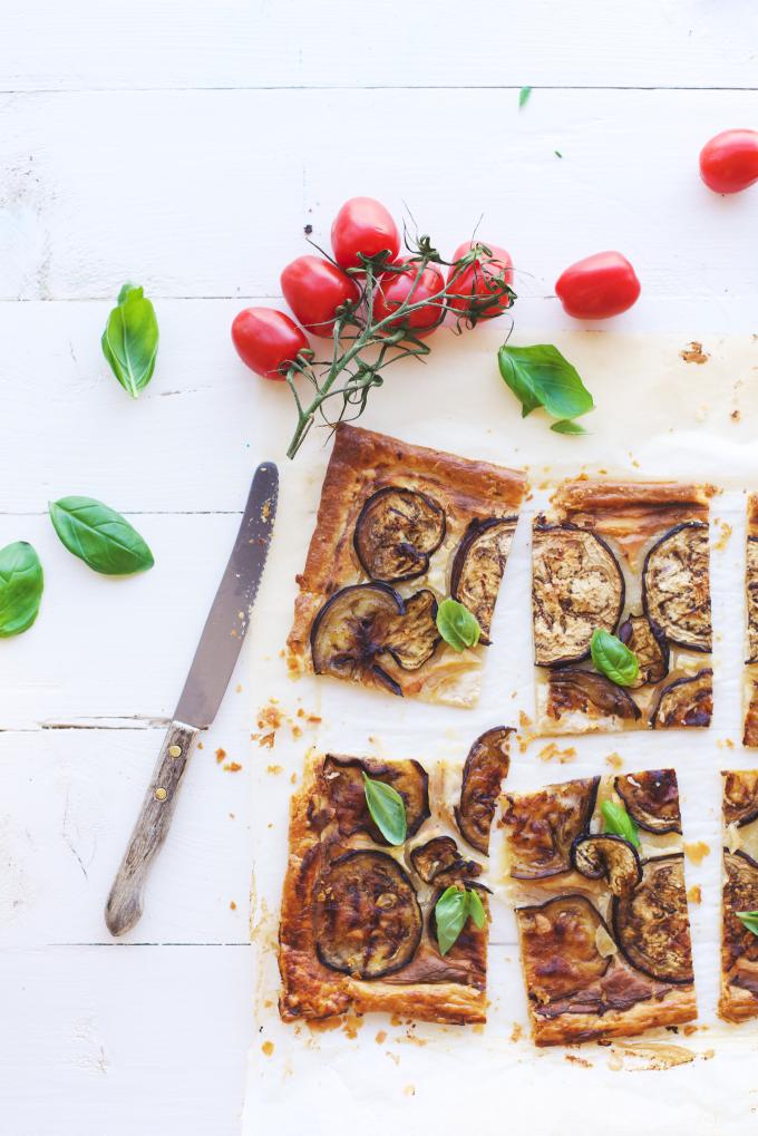 Ricotta aubergine hartige taart (1)